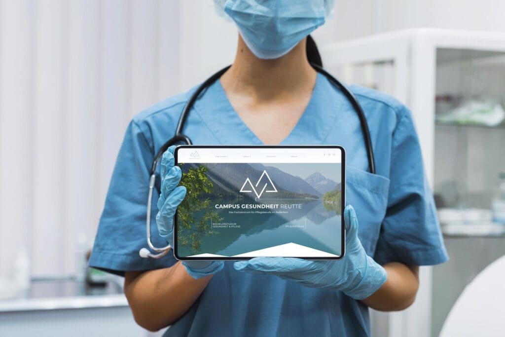 Das neue Logo des Campus Gesundheit Reutte